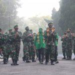 Kunjungan Kerja Danbrigif R 13/Galuh dan Olahraga Bersama