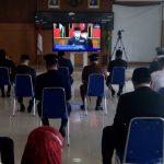 Dandim 0607 / Kota Sukabumi Hadiri Pelantikan Bupati Sukabumi Periode 2021 – 2026 Secara Virtual